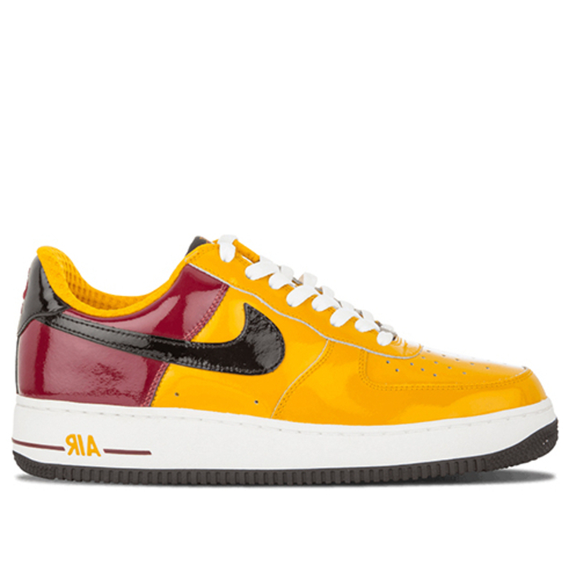 Nike Air Force 1 Premium 'Portugal World Cup' Gold Leaf/Black-Team Red-White Sneakers/Shoes 309096-701 (Size: US 9)