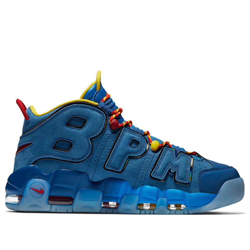 Nike Air More Uptempo Doernbecher Blue Jay/Gym Red-Team Orange-Blue Jay Basketball Shoes/Sneakers AH6949-446 (Size: US 7)