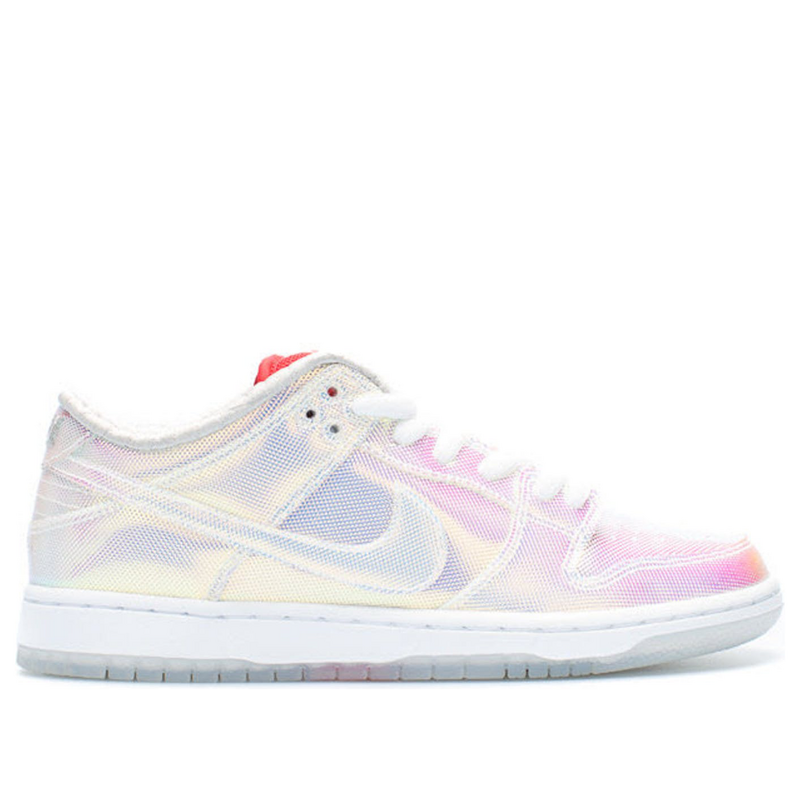 Nike Concepts x Dunk Low Pro SB 'Holy Grail' Mettalic Silver Blue/Red Sneakers/Shoes 504750-140 (Size: US 10.5)