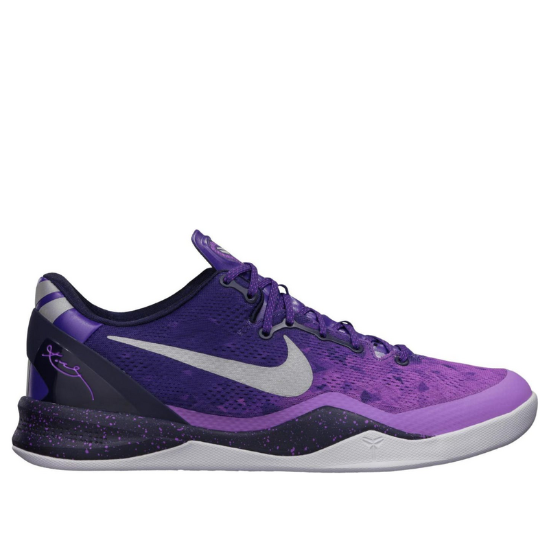 Nike Kobe 8 System Playoff Court Purple/Pure Platinum-Blackened Blue Basketball Shoes/Sneakers 555035-500 (Size: US 10)
