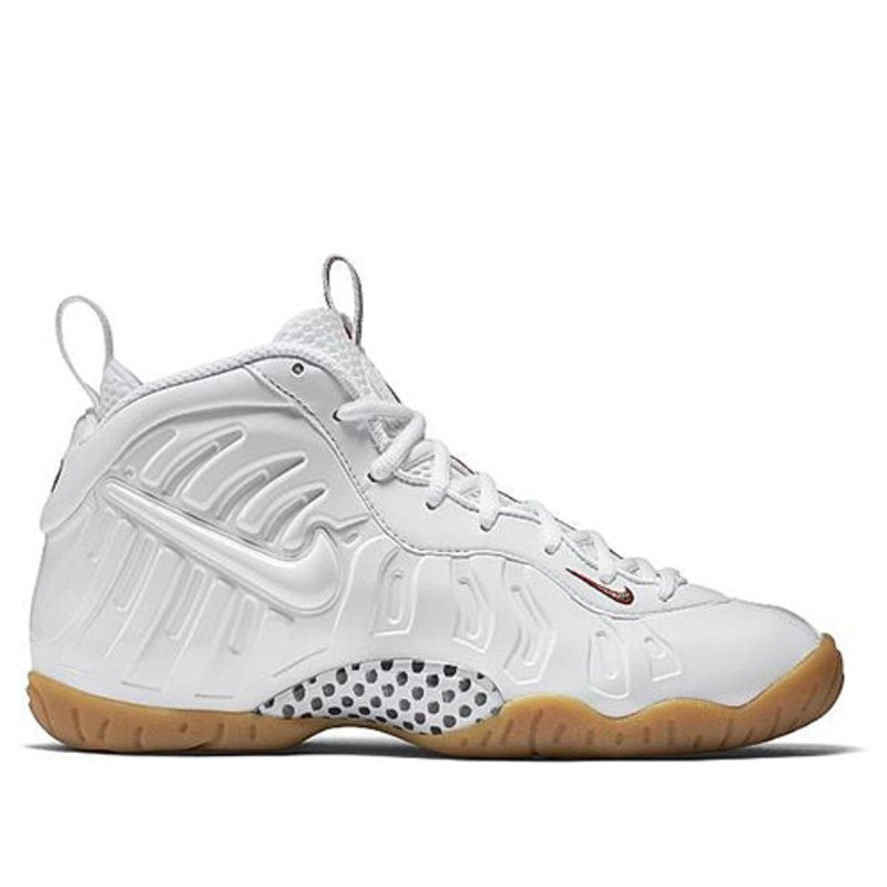 Nike Little Posite Pro'Gucci' GS White/White-Gym Red-George Green Basketball Shoes/Sneakers 644792-100 (Size: US 7Y)