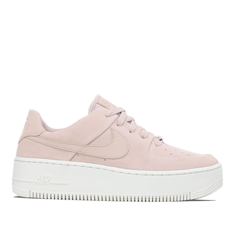 Nike Womens WMNS Air Force 1 Sage Low Particle Beige Sneakers/Shoes AR5339-201 (Size: US 8)