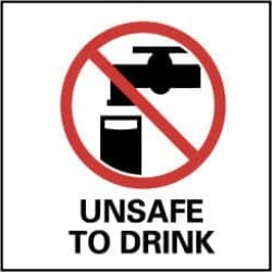 NMC 7x7ps Vinyl Unsafe To Drink Sign S55P