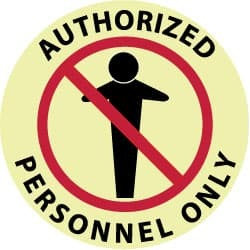 NMC Authorized Personnel Only, Vinyl Sign Round, Red and Black on