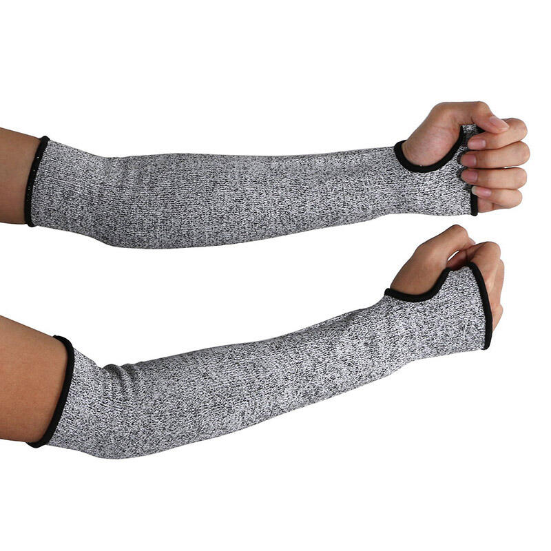 Outdoor Products 1Pcs Cut Resistant Arm Protective Working Glove in Light Grey. Size: L
