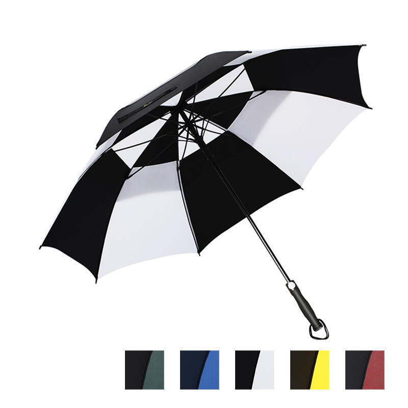 Outdoor Products 30 Inch Windproof Waterproof Double Canopy Golf Umbrella in Green,White,Blue,Red,Yellow. Size: 30 Inch