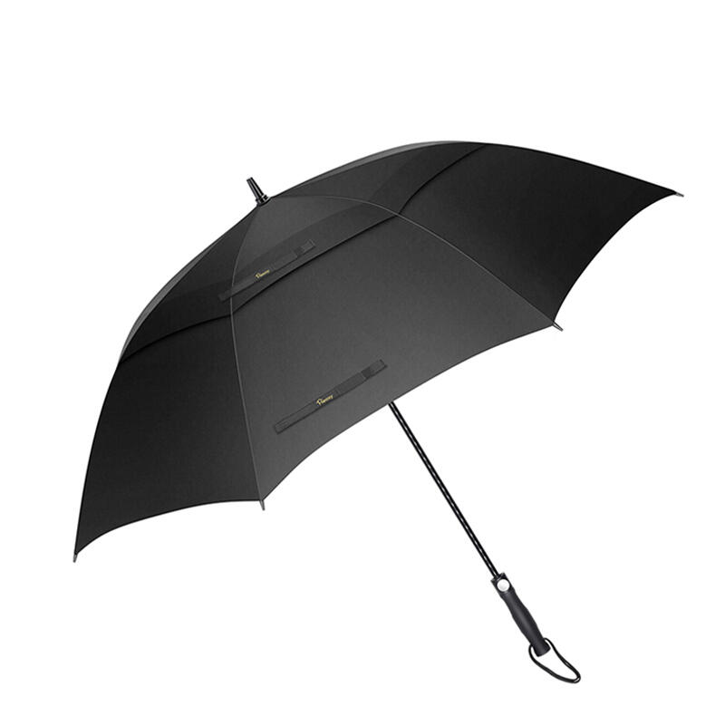 Outdoor Products 34 Inch Windproof Waterproof Double Canopy Golf Umbrella in Black. Size: 34 Inch