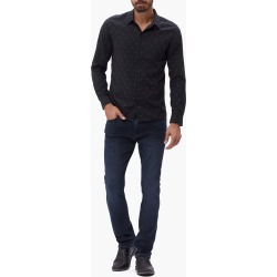 PAIGE Men's Hastings Shirt - Black Star | Size Large | Long Sleeves