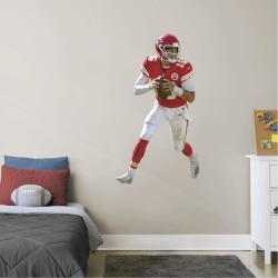 """Patrick Mahomes for Kansas City Chiefs - Officially Licensed NFL Removable Wall Decal Giant Athlete + 2 Decals (28""""W x 51""""H) by"""