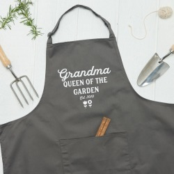 Personalised Queen Of The Garden Apron