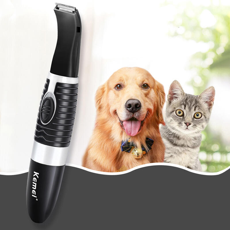 Pet Products Pet Dog Low Noise Water Proof Electric Hair Clippers Shaver in Black. Size: One Size