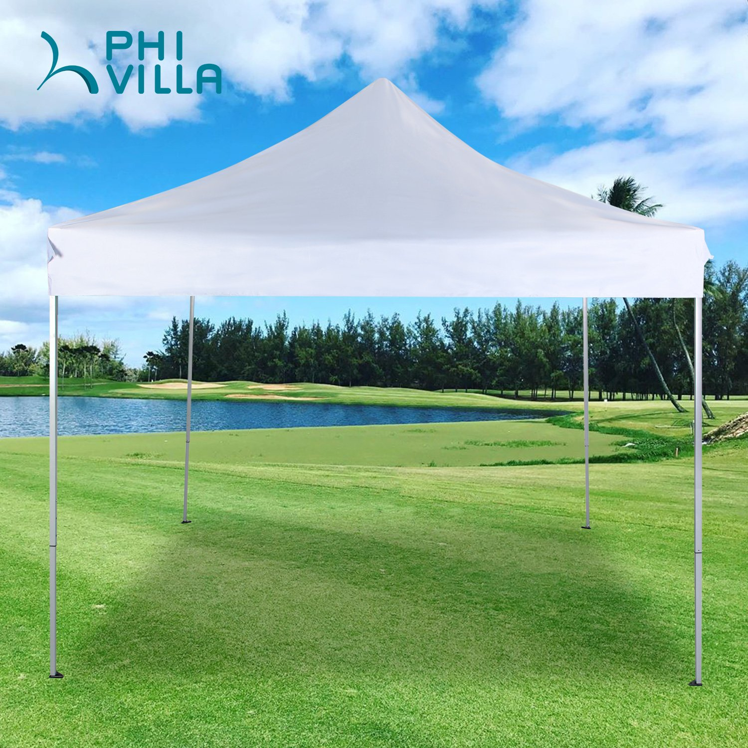 PHI VILLA 10' x 10' Instant Commercial Canopy Straight Leg