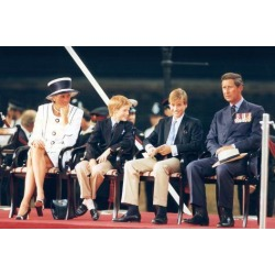 Photo: Prince Charles and Diana Princess of Wales, Prince William and Prince Harry by Associated Newspapers: 36x24in