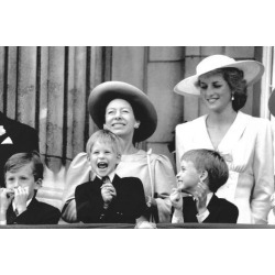 Photo: Princess Diana and Princes Margaret, Prince William and Prince Harry on Buckingham Palace balcony by Associated Newspapers: 36x24in
