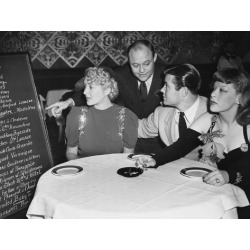 Photo: Waiter and Customers in Restaurant: 24x18in
