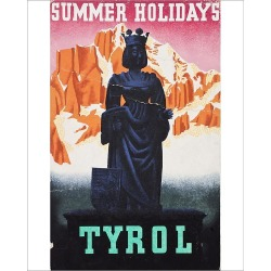 Photograph. Advertisement for summer holidays in Tyrol, Austria
