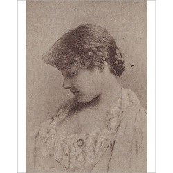 Photograph. Annie Robe Wallace, from the Actresses series (N67) promoting Virginia Brights Cigaret