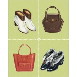 Photograph. Boots and Handbags