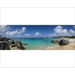 Photograph. British Virgin Islands, Virgin Gorda, The Baths, beach view