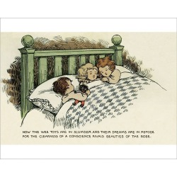 Photograph. Children asleep in bed
