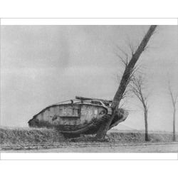 Photograph. Crashed Tank