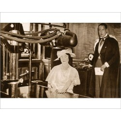 Photograph. Duchess of York with new X-Ray Machine - Middlesex Hospital