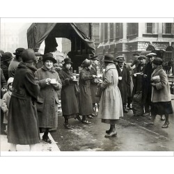 Photograph. Food Queues in London owing to shortages