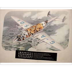 Photograph. Poster, Imperial Frobisher Airliner