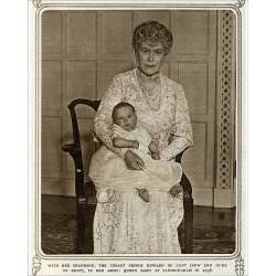 Photograph. Queen Mary with grandchild Prince Edward