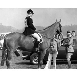 Photograph. Royalty - Queen and Princess Anne - Windsor Great Park