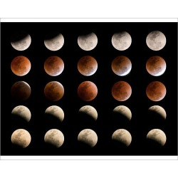 Photograph. Total Lunar eclipse in Thailand January 31, 2018