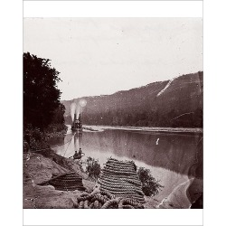 Photograph. U.S. Transport in Rapids, Tennessee River/The Suck - Tennessee River below Chattanooga