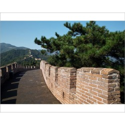 Photograph. View of great wall of China