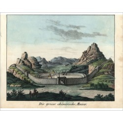 Photograph. View of the Great Wall of China circa 1800