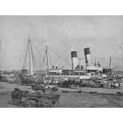 Photographic Print: 'A Cotton Steamer at New Orleans', 19th century: 12x9in