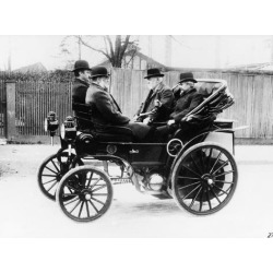 Photographic Print: Gottlieb Daimler in an 1891 Canstatt Daimler, 1891: 24x18in