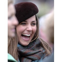 Photographic Print: Kate Middleton in the Royal box at Cheltenham racecourse, 16th March 2007: 24x18in
