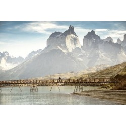 Photographic Print: South America, Patagonia, Chile, Torres del Paine National Park, los Cuernos at Lago Pehoe by Christian Heeb: 36x24in