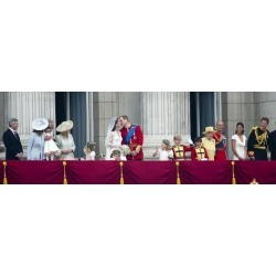 Photographic Print: The Royal Wedding of Prince William and Kate Middleton in London, Friday April 29th, 2011: 36x12in