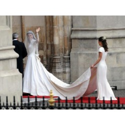 Photographic Print: The Royal Wedding of Prince William and Kate Middleton in London, Friday April 29th, 2011: 24x18in
