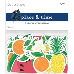 Place & Time Die Cut Shapes Fruits Beach Babe