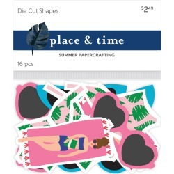 Place & Time Die Cut Shapes Sunbathing Beach Babe