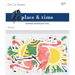 Place & Time Die Cut Shapes Tropical Beach Babe