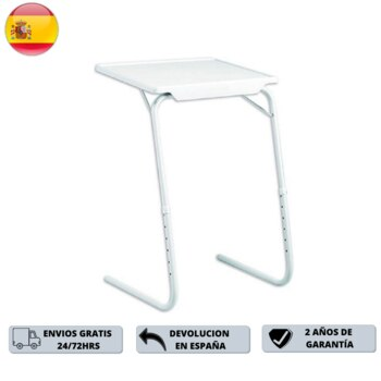 Portable auxiliary folding table adjustable stand with 6 heights and 3 different angles ideal for bed/sofa comfortable and practice