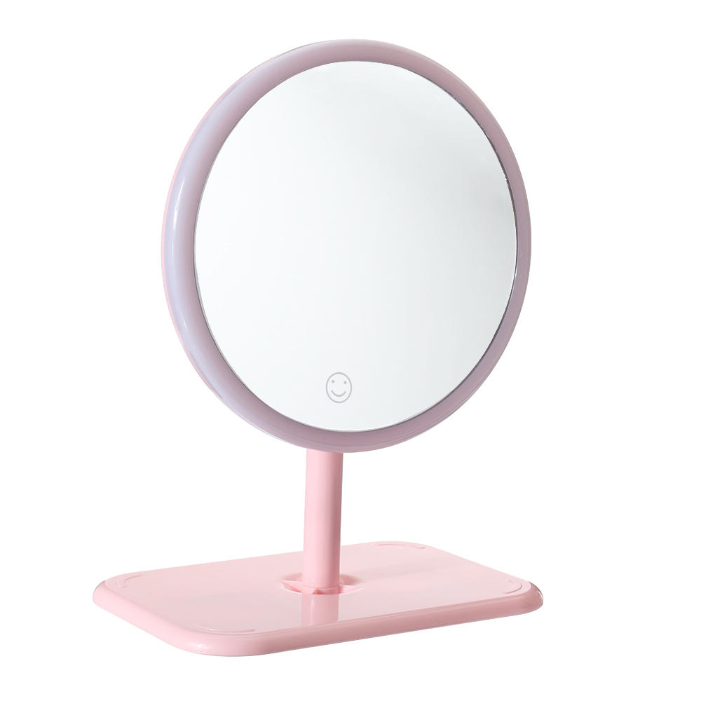 Portable Flexible USB Makeup Mirror LED Light Touch Dimmable Storage Base