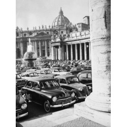 Poster: Cars Parking for Vatican Visit, 24x18in.