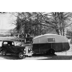 Poster: Ford Car and Caravan, 24x16in.