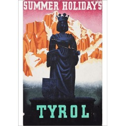 Poster Print. Advertisement for summer holidays in Tyrol, Austria