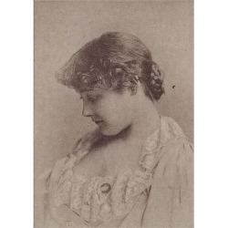 Poster Print. Annie Robe Wallace, from the Actresses series (N67) promoting Virginia Brights Cigaret