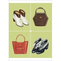 Poster Print. Boots and Handbags